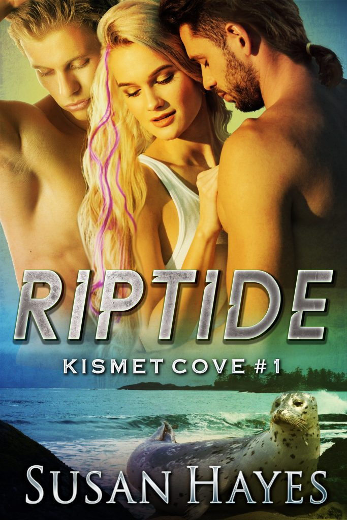 Cover of Riptide. 2 men. 1 woman. 1 seal